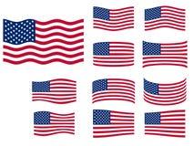 flaggor ställde in USA Arkivbild