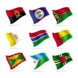 flaggor ställde in världen Fotografering för Bildbyråer