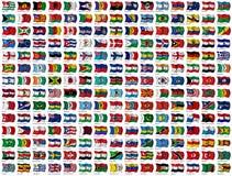 flaggor ställde in världen Royaltyfria Bilder
