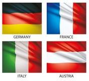 2 flaggor ställde in världen Royaltyfria Bilder
