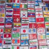 FLAGGOR THAILAND BANGKOK FÖR INTERNATIONELLT LAND Royaltyfri Fotografi