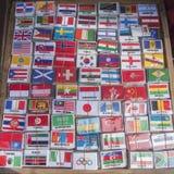 FLAGGOR THAILAND BANGKOK FÖR INTERNATIONELLT LAND Arkivbilder