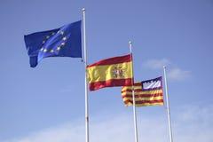 flaggor tre Royaltyfri Bild