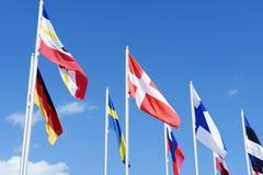 Flaggs of baltic sea states Stock Photo
