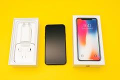 Flaggschiff Apples Iphone X Smartphone Lizenzfreie Stockfotografie