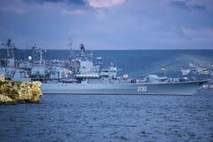 Flaggschiff von Ukraine Stockfotografie