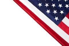 Flagi amerykańskiej granica odizolowywająca na bielu - wizerunek obraz stock