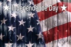 flagi amerykańskiej drewna Obraz Royalty Free