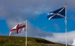 Flagi Anglia i Szkocja fotografia royalty free