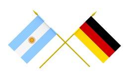Flagi, Argentyna i Niemcy, royalty ilustracja