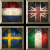 flagi europejskiej Obrazy Royalty Free