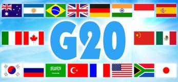 Flagi grupa Dwadzieścia zdjęcia stock