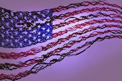 flagi Szczęśliwa dzień niepodległości ilustracja ilustracji
