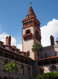 Flagler College in St. Augustine Florida. A tower at Flagler College in St. Augustine Florida.  The college is the site of the former Ponce De Leon hotel.  It is Stock Photo