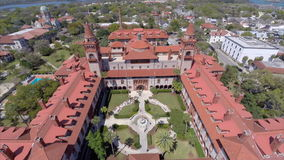 Flagler College university aerial video stock footage
