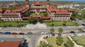 Flagler College university aerial video 2 stock video footage