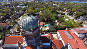 Flagler Memorial St Augustine Florida Aerial video footage Stock Photography