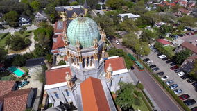 Flagler Memorial St Augustine Florida Aerial video footage 2 Royalty Free Stock Photos