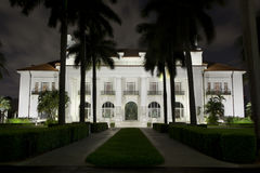 Flagler Museum at Night. Stock Image