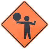Flagman Ahead Stock Photography