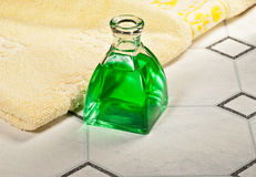 Flagon. A flagon with towel in the bathroom Royalty Free Stock Photo