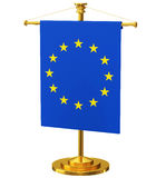 Flagpole with the flag of Europe Royalty Free Stock Photo