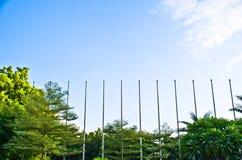 Flagpole. Royalty Free Stock Photo