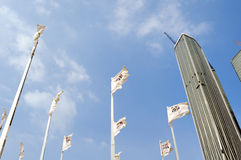 The flagpole group Stock Photography