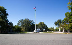 Flagpole. In a public park Royalty Free Stock Photography