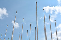 Flagpoles Stock Image