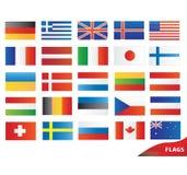 flags иконы Иллюстрация штока