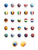 flags иконы Стоковая Фотография