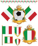 flags Италия Стоковое Фото