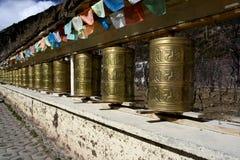 flags колеса yunnan shangrila молитве Стоковое Изображение