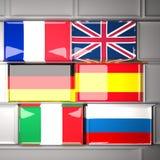 flags клавиатура Стоковые Фотографии RF