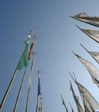 flags молитва Сикким полюсов Индии Стоковое Изображение RF