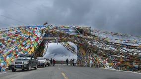 flags молитва Тибет Стоковые Фото