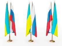 flags Россия Украина Стоковое Фото
