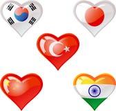 flags сердце Стоковое Изображение RF