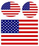 flags сеть вектора США иллюстрации Стоковые Изображения RF