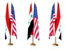 flags соединенное положение Ирака Стоковая Фотография