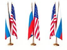 flags соединенное положение России Стоковое Фото