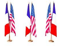 flags соединенное положение Франции Стоковые Изображения