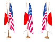 flags соединенное положение японии Стоковое Изображение RF