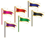 Flags. Representing the world of fun and power Stock Photography