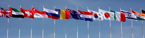 Global Flags Royalty Free Stock Photo