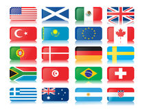 Flags. Vector illustration on white background Stock Photos