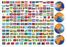 Flags. Of the countries. Illustration for you design