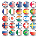 Flags. Web buttons with flags isolated on white. Name of the country as the name of the layer. Easy to change. Vector illustration eps 10 additional