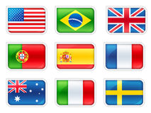 Flags. Conceptual image 3D: Flags of the world Stock Photo